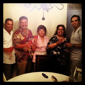 Image of the Maldonado family, Ray, Frank, Magda, Edna and Albert